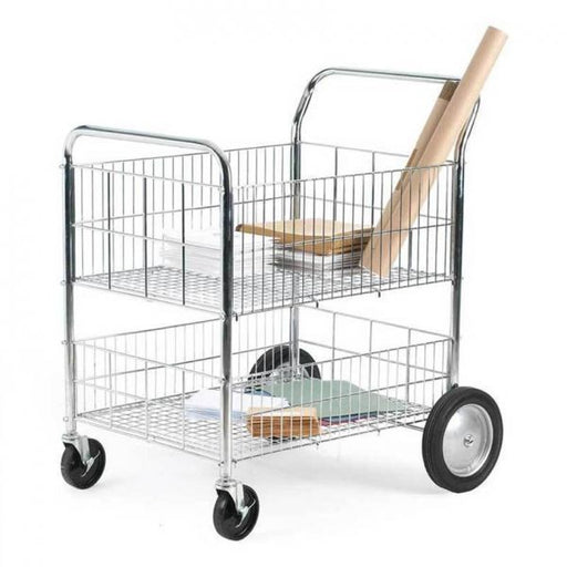Chrome Plated Wire Trolley with Removable Shelf Techni-Pros - techni-pros