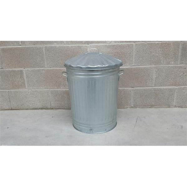 Galvanised Steel Trashcan - 90 Litre Techni-Pros - techni-pros