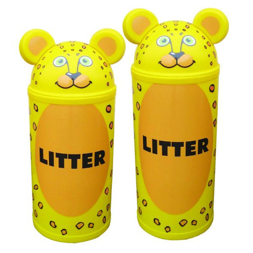 Animal Kingdom Leopard Litter Bin Techni Pros
