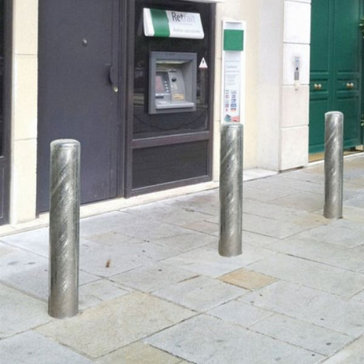 Anti-Ram Raid Galvanised Steel Bollard Techni-Pros - techni-pros