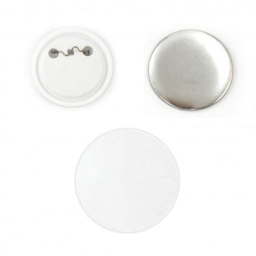 PixMax Badge Components for Pin Button Badge Pressing (100 Pack) - techni-pros