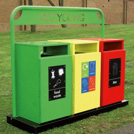 Barnsley Recycling Bins with Stand Techni-Pros - techni-pros