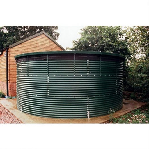 64000 Litres Coated Steel Water Tank with Liner and Cover Techni-Pros - techni-pros