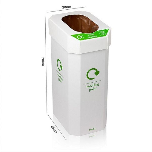 Combin Cardboard Combination Recycling Bin - Pack of 5 Techni-Pros - techni-pros