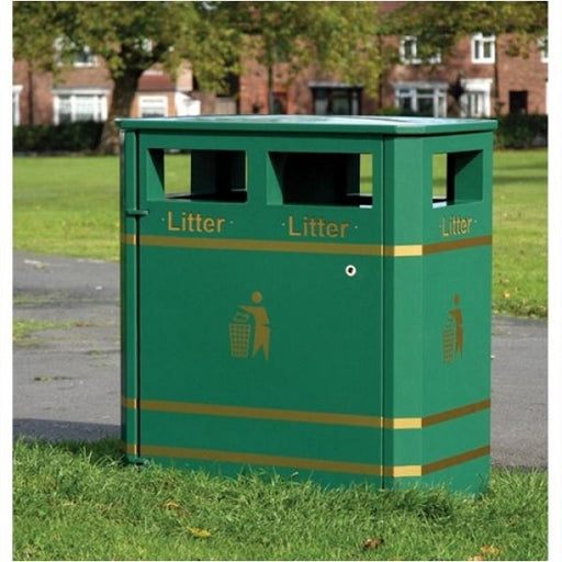 Derby Double Steel Litter Bin - 240 Litre Techni-Pros - techni-pros