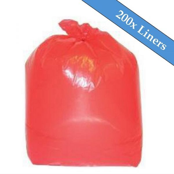 "Medium Duty Red Refuse Sacks 18"" x 29"" x 39""- 200 Liners Per Box Techni-Pros - techni-pros"