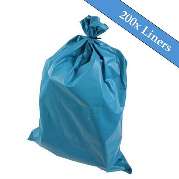 "Medium Duty Blue Refuse Sacks 18"" x 29"" x 39""- 200 Liners Per Box Techni-Pros - techni-pros"