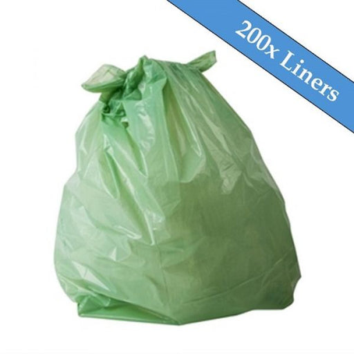"Medium Duty Green Refuse Sacks 18"" x 29"" x 39""- 200 Liners Per Box Techni-Pros - techni-pros"