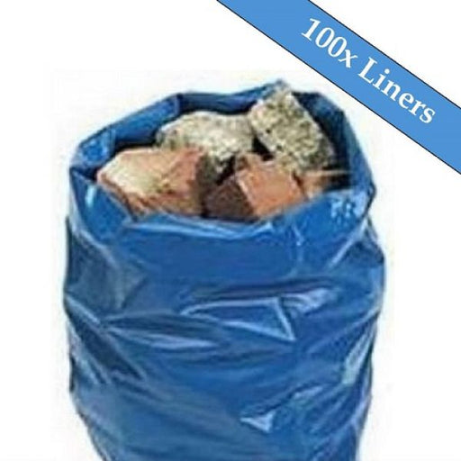 "Blue Rubble Sack 20"" x 30"" 300 Gauge - 100 Liners Per Box Techni-Pros - techni-pros"