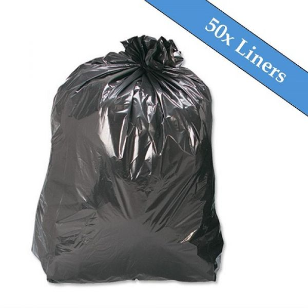 Heavy Duty 1100 Litre Black Wheeled Bin Liner - 50 Liners Per Box Techni-Pros - techni-pros