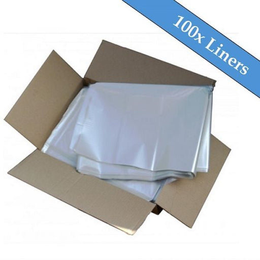 240 Litre Large Clear Superior Recycled Wheelie Bin Liners - 100 Liners Per Box Techni-Pros - techni-pros