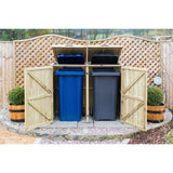 Timber Double Chest Wheelie Bin Store Techni-Pros - techni-pros