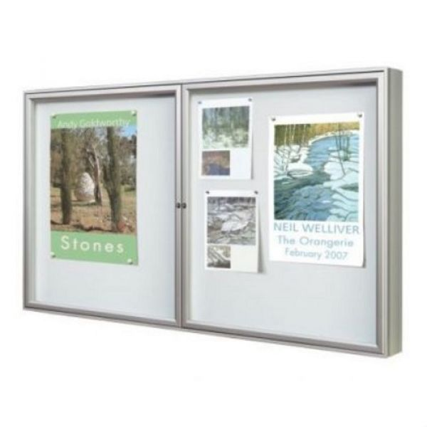 Outdoor Dual Door 1000 Series Poster Case - 8x A4 Techni-Pros - techni-pros
