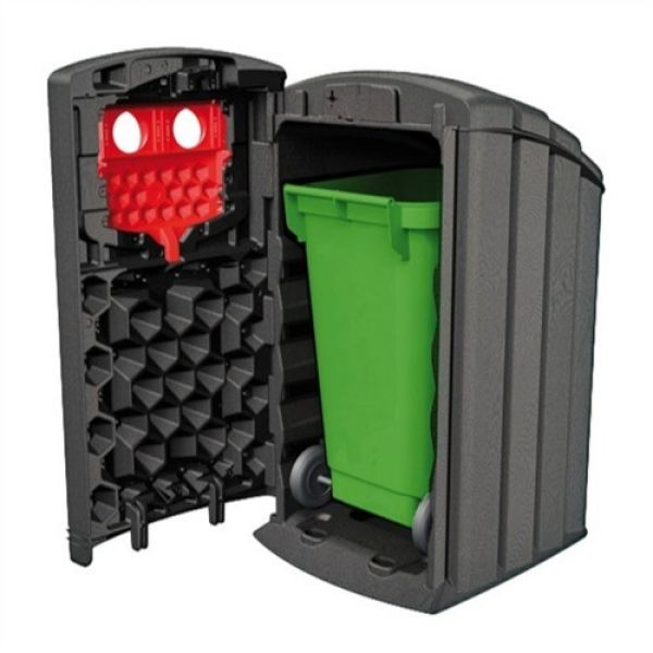 Envirobank Recycling Bin with Hole Apertures - 240 Litre Techni-Pros - techni-pros