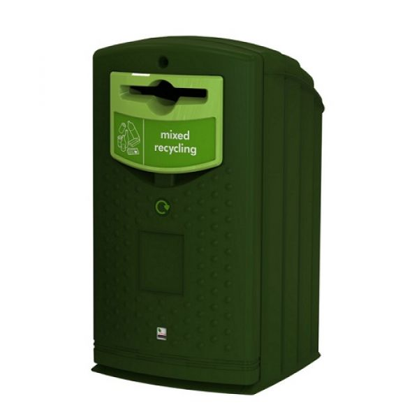 Envirobank Recycling Bin with Propellor Aperture - 240 Litre Techni-Pros - techni-pros