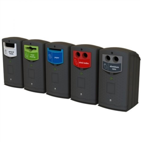 Envirobank Recycling Bin with Slot Aperture - 240 Litre Techni-Pros - techni-pros