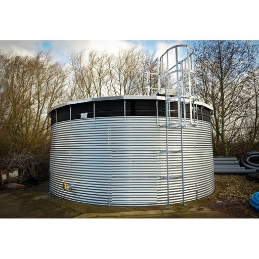 9000 Litres Galvanised Steel Water Tank with Liner and Cover Techni-Pros - techni-pros