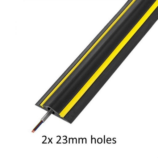 Vulcascot HiViz2 Black and Yellow Industrial Cable Protector - techni-pros