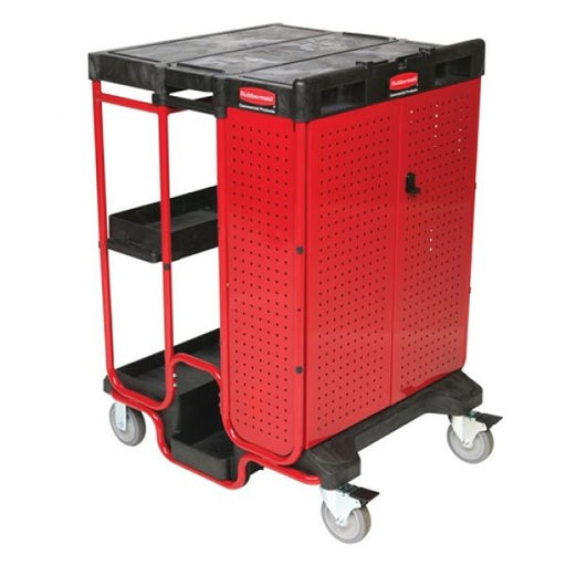 Rubbermaid Ladder Cart with Cabinet Techni-Pros - techni-pros