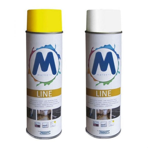 Line Marking Paint - 12x 500ml Cans Techni-Pros - techni-pros