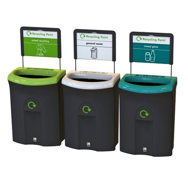 Meridian Open Top Recycling Bin - 110 Litre Techni-Pros - techni-pros