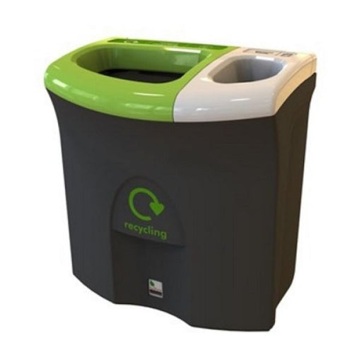 Mini Meridian Recycling Bin with Twin Open Apertures - 87 Litre Techni-Pros - techni-pros