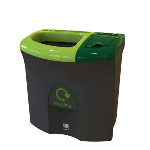 Mini Meridian Recycling Bin with Open & Lift Up Apertures - 87 Litre Techni-Pros - techni-pros
