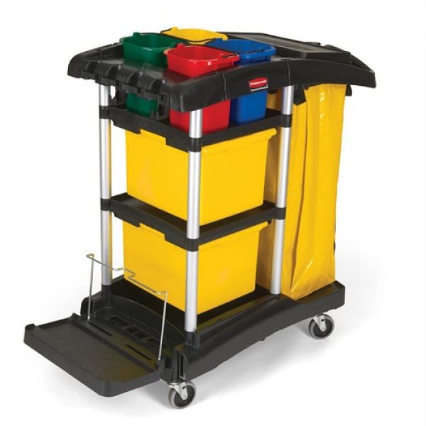 Rubbermaid HYGEN Microfibre Cleaning Cart Techni-Pros - techni-pros
