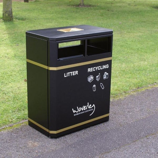 Middlesbrough Dual Litter & Recycling Bin - 160 Litre Techni Pros