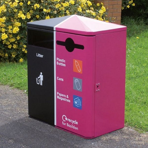Middlesbrough Dual Litter & Recycling Bin - 224 Litre Techni Pros