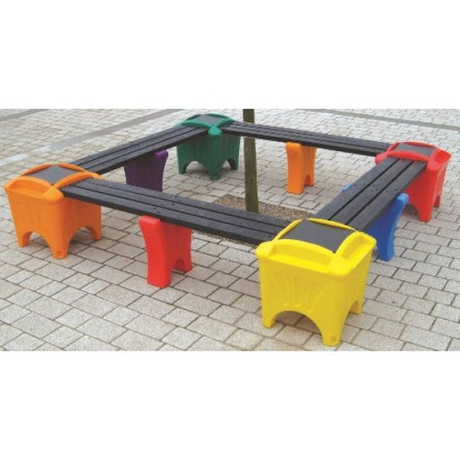 Modular Seating - Square Shaped Bench Techni-Pros - techni-pros