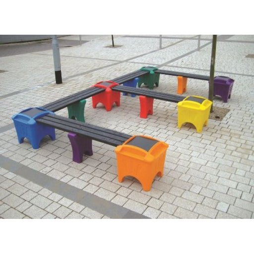 Modular Seating - E Shaped Bench Techni-Pros - techni-pros