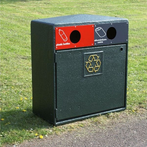 Double Never Rust Recycling Bin - 224 Litre Techni Pros
