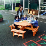 Octagonal Junior Picnic Bench Techni-Pros - techni-pros