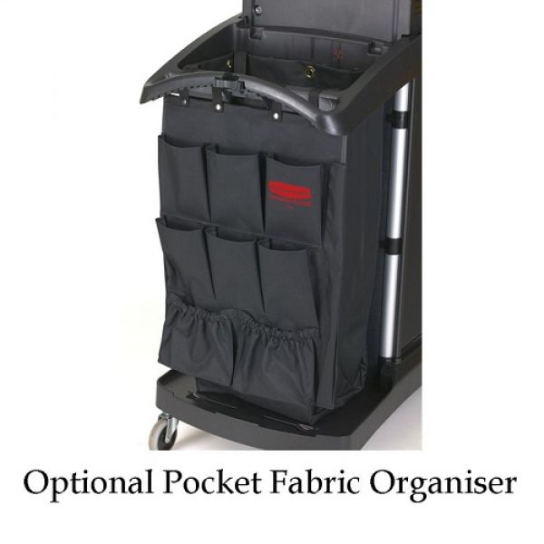 Rubbermaid Deluxe Panelled Compact Housekeeping Cart Techni-Pros - techni-pros