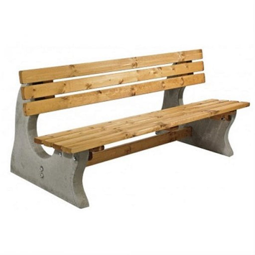 Concrete and Timber Park Bench Techni-Pros - techni-pros