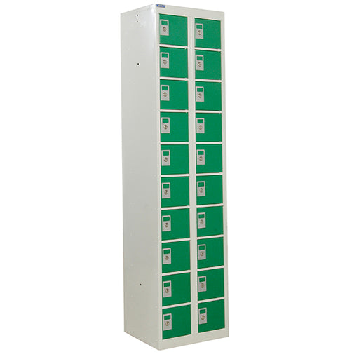 Personal Effects Lockers - 20 tier - 1800 X 450mm Techni-Pros - techni-pros
