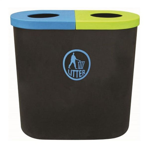 Popular Twin Litter Bin - 140 Litre Techni-Pros - techni-pros