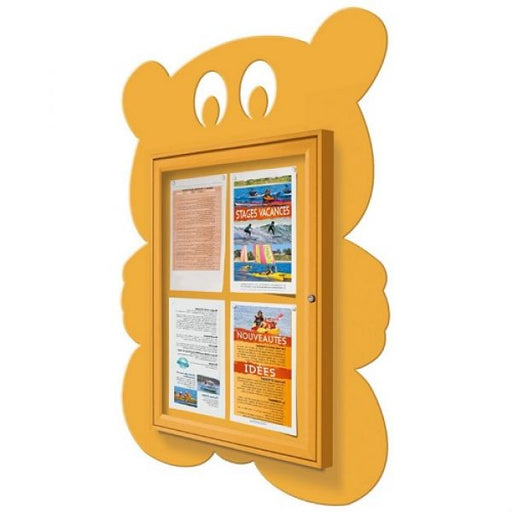 School Fun Teddy Bear Poster Case - 4x A4 Techni-Pros - techni-pros