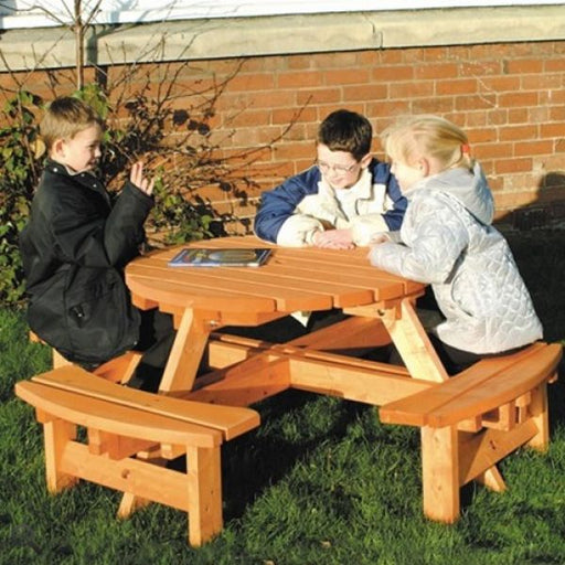 Sherwood Round Timber Junior Picnic Bench Techni-Pros - techni-pros