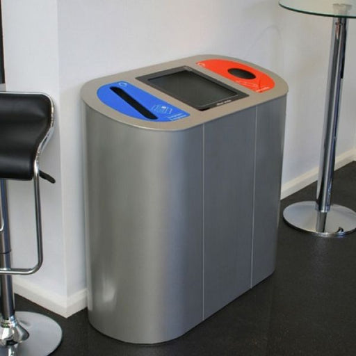 Torpedo Triple Internal Recycling Bin with Lift Up Lid - 162 Litre Techni Pros