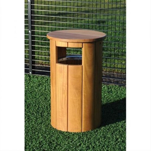 Winchester Canopied Timber Litter Bin - 90 Litre - techni-pros