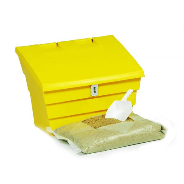 2 Cu Ft Lockable Grit Bin Winter Pack - 50 Litre / 50 kg Capacity Techni-Pros - techni-pros