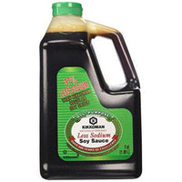 Kikkoman Lite Soy Sauce, 64-Ounce Bottle (Pack of 1)-Soyum Foods