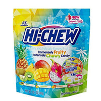 Morinaga Hi Chew Tropical Mix Chewy Candy, Kiwi, Pineapple, Mango Dragon Fruit Flavors, 12.7 Ounce Stand-Up Pouch-Soyum Foods