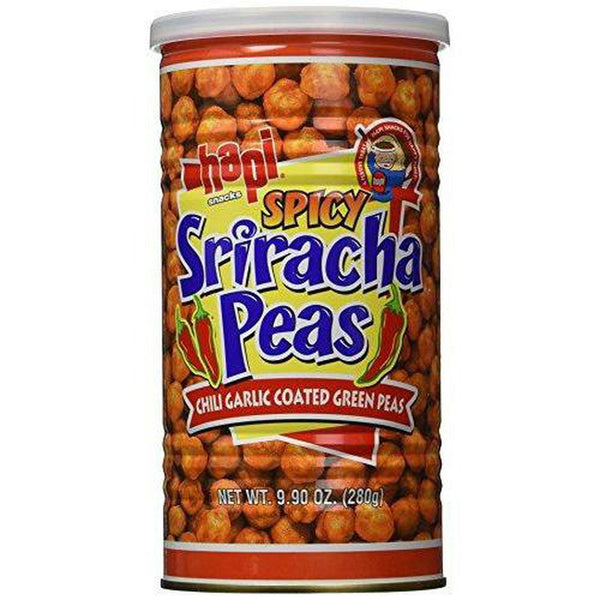 Hapi Snacks - Spicy Sriracha Peas - Chili Garlic Coated Green Peas (Net Wt. 9...-Soyum Foods