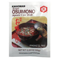 Kikkoman Osuimono Instant Clear Soup, 0.33-Ounce (Pack of 6)-Soyum Foods