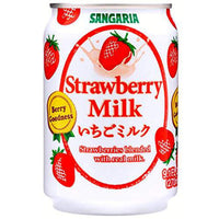Japanese Sangaria Rich and Creamy Milk Tea Can 8.96 Fl oz (Strawberry, 24 Cans)-Soyum Foods