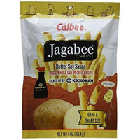 Calbee Jagabee Thick Whole Cut Potato Crisps, Butter Soy Sauce, 4 Ounce-Soyum Foods