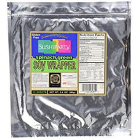 Yamamotoyama Sushi Soy Wrapper, Spinach Green, 80 grams, 20 Count-Soyum Foods
